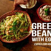 Mexican Green Beans Recipe (receta de ejotes con huevo) | #vegetarian #egg #mexicanfood
