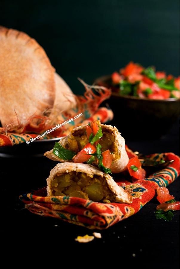 Potato and Pumpkin Empanada