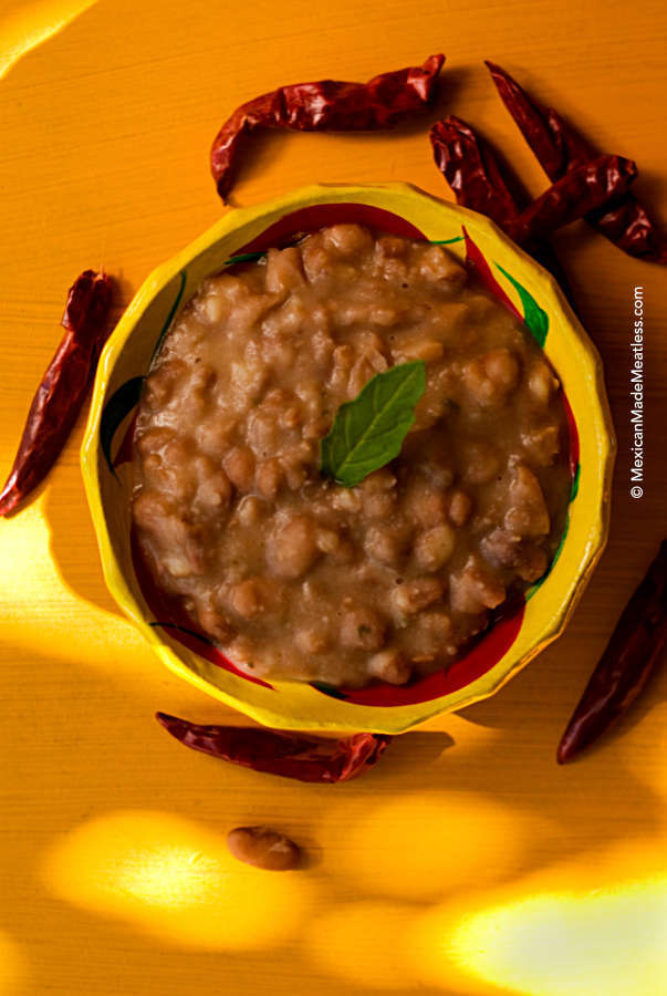 Refried Beans Frijoles Refritos Mexican Made Meatless
