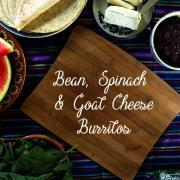 黑豆,菠菜和山羊乳酪卷饼|一个简单而健康的素食午餐