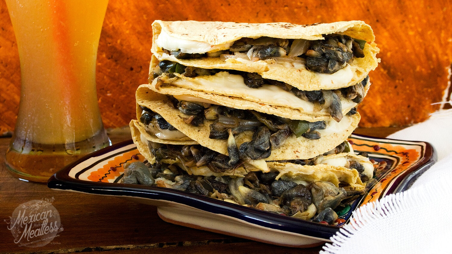 Corn Truffle Quesadillas Quesadillas De Huitlacoche Video Recipe Mexican Made Meatless
