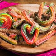 How to Make Rainbow Churros | Como hacer churros arcoiris