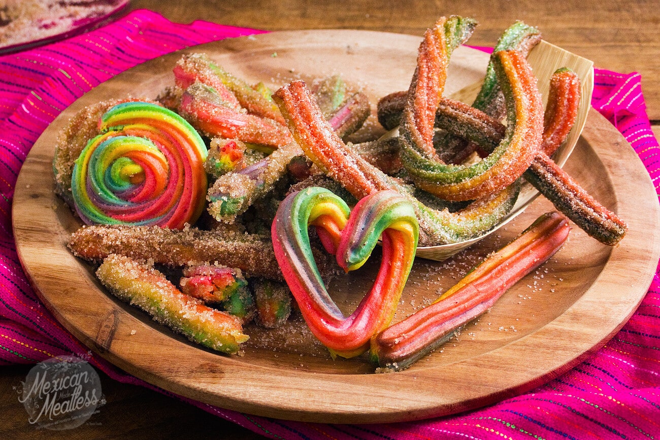 How To Make Rainbow Churros Video Recipe Mexican Made Meatless