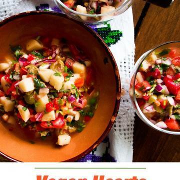 Heart of Palm Ceviche | Ceviche de Palmitos #vegan #raw #ecuadorianfood #mexicanfood