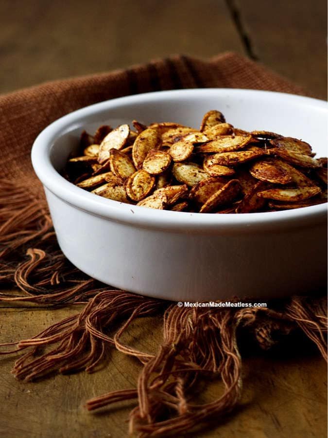 Easy Mexican Roasted Spicy Pumpkin Seeds