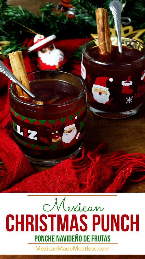 Mexican Christmas Punch or Ponche Navideño| #vegan #tejocotes #ponche