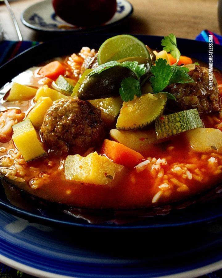 Mexican Albondigas Soup