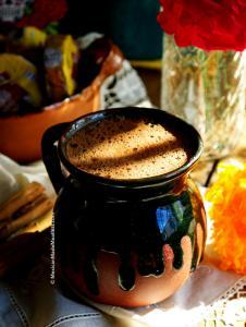 Vegan hot chocolate made Mexican style