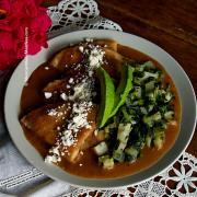 How To Make Vegetarian and Vegan Enfrijoladas