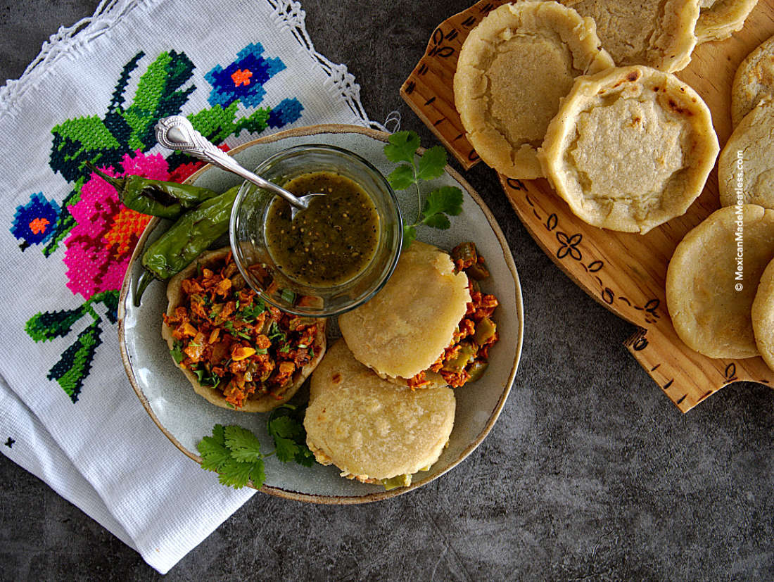 Learn how to make vegan sopes and gorditas that you can fill with any of your favorite Mexican guisados.