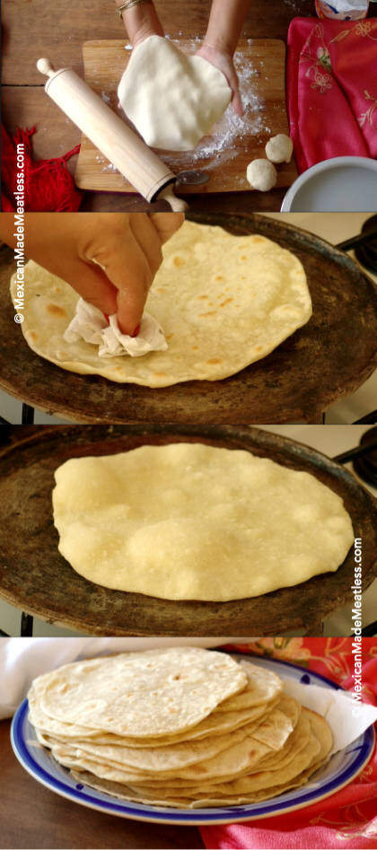 How To Make Flour Tortillas Vegan Quick Easy Recipe Mexican Made Meatless