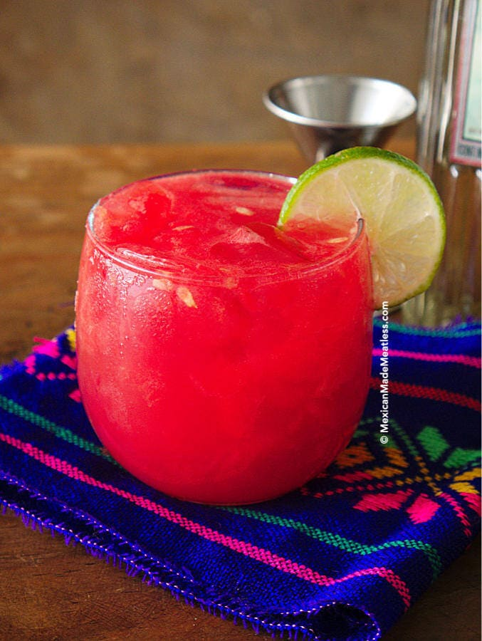 Watermelon and Silver Tequila Cocktail