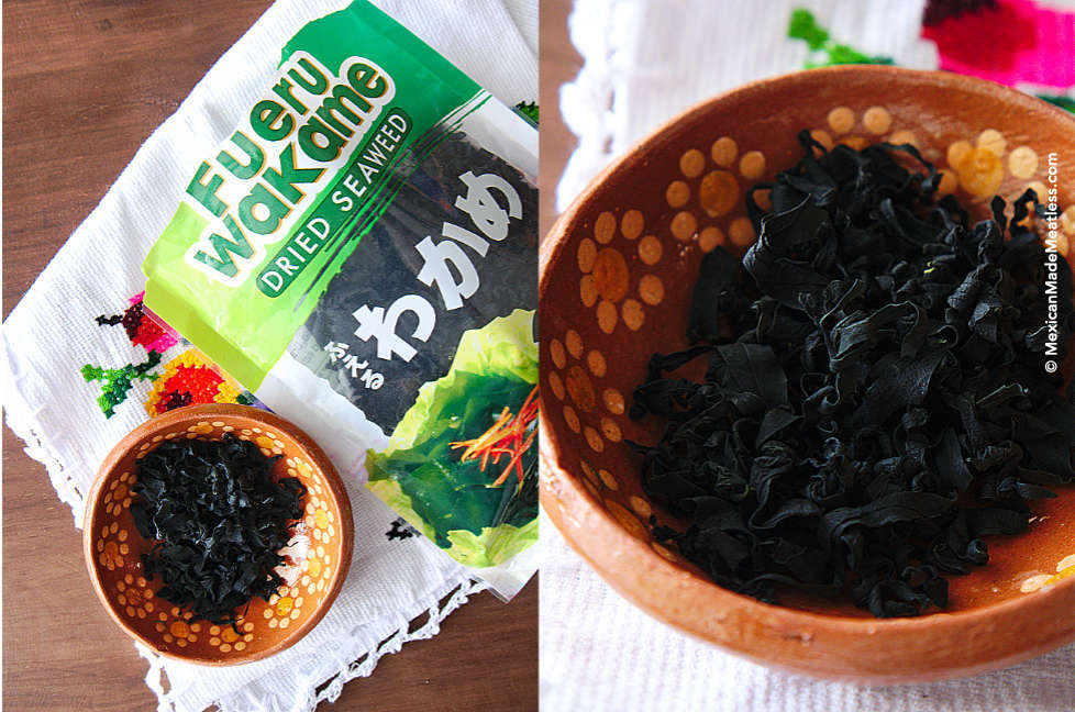 Wakame dried seaweed makes the best substitute for a vegan fish taste and smell.