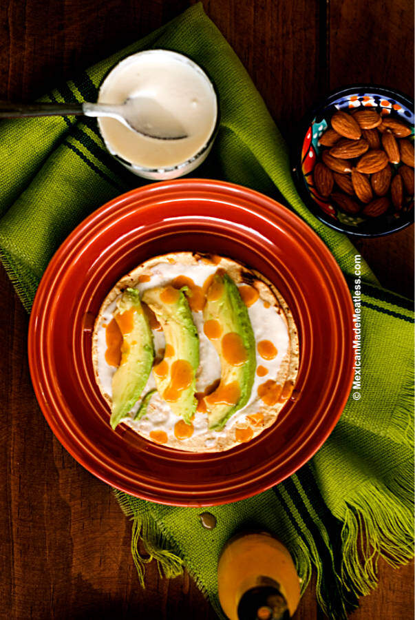 A drizzle of crema is the special extra touch to your Mexican favorite dishes. This nut free and soy free vegan crema recipe needs just 5 ingredients and it's incredibly easy to make.