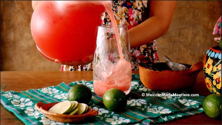 How to serve agua fresca