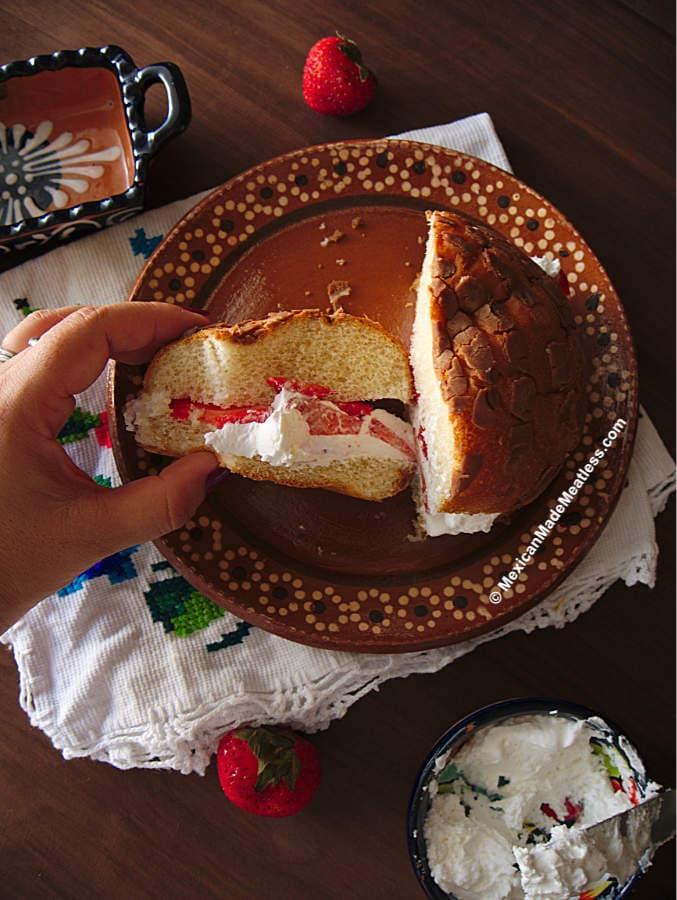 Concha Strawberry Shortcake Dessert
