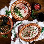 Vegetarian Chiles en Nogada with Vegan Option