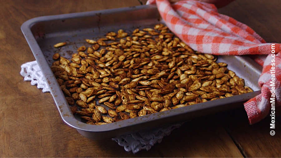 Easy Spicy Roasted Pepitas or Mexican Pumpkin Seeds