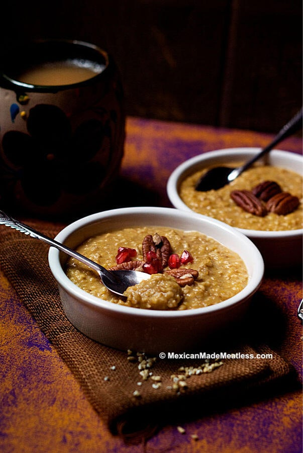 Vegan Steel Cut Oats with Pumpkin Pie Spices