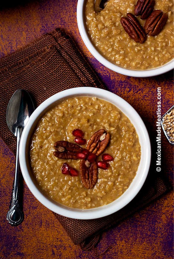 Pumpkin Pie Spiced Steel Cut Oats
