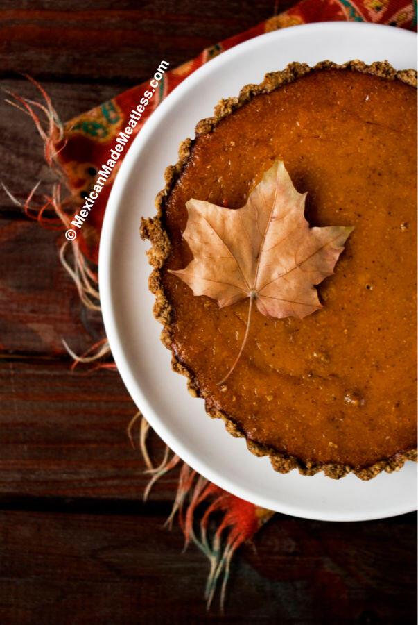 Pumpkin Pie Made from Scratch and Gluten Free