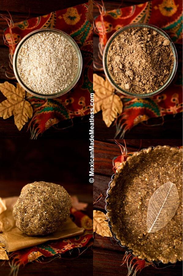 Oat and Acorn Flour Pie Crust