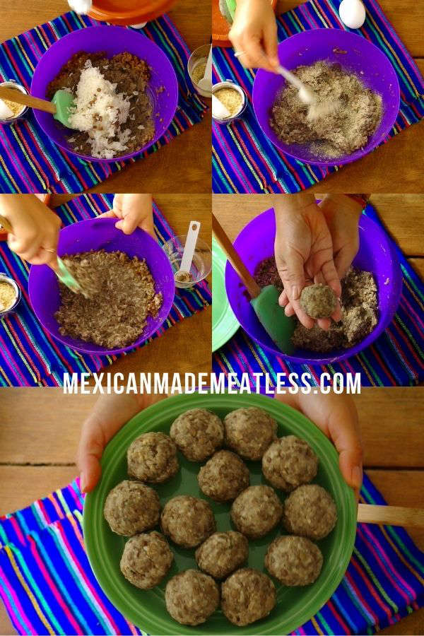 Vegetarian Mexican Meatballs