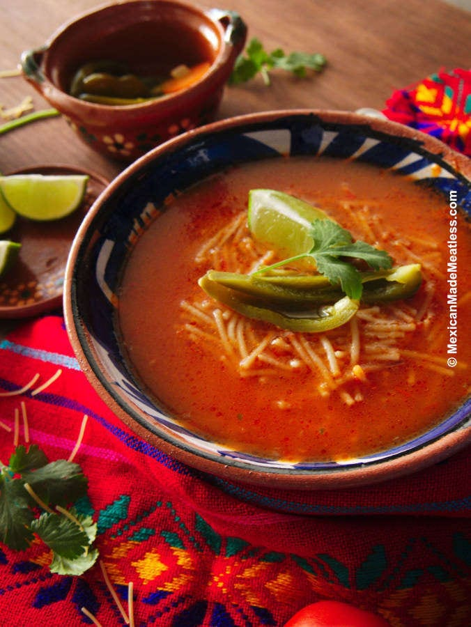 Recipe for Mexican Sopa de Fideo (Noodle Soup)