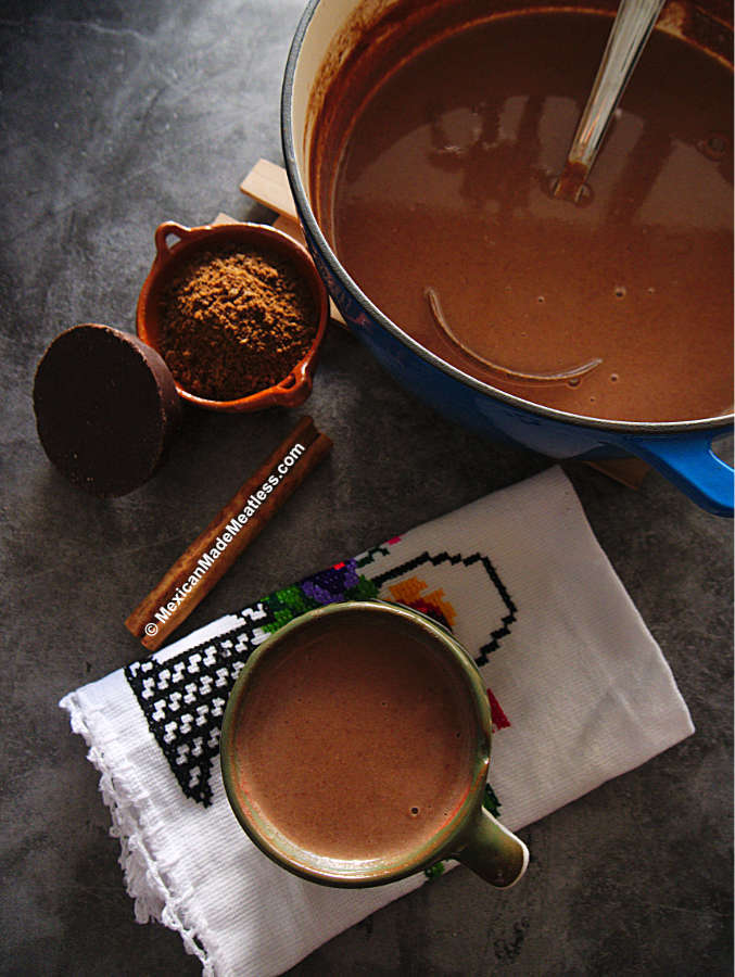 Recipe for Homemade Mexican Chocolate Champurrado