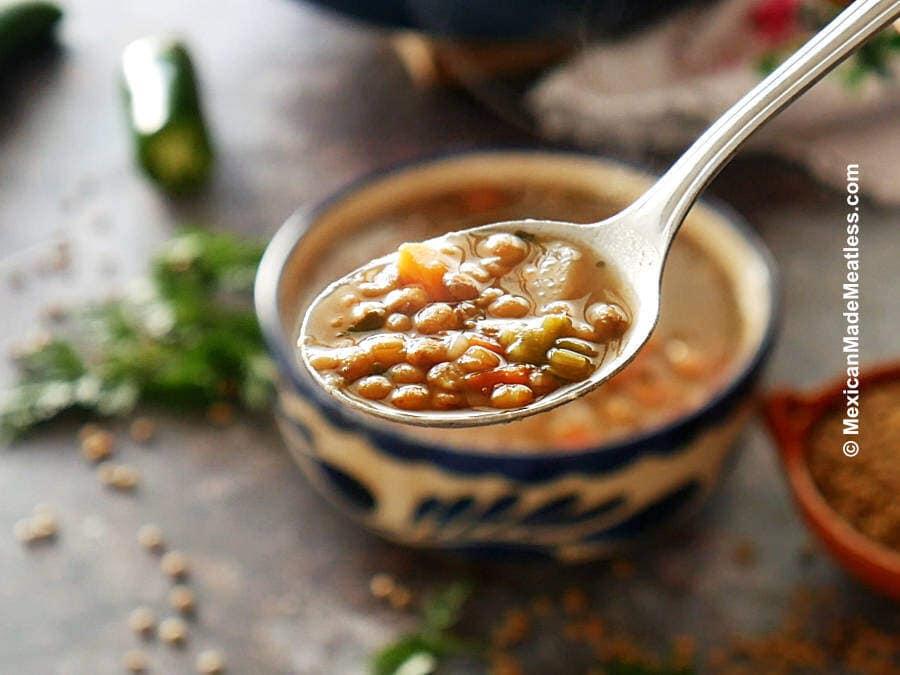 Sopa de lentejas or Lentil Soup Recipe