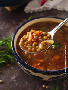 Quick and Easy Mexican Lentil Soup