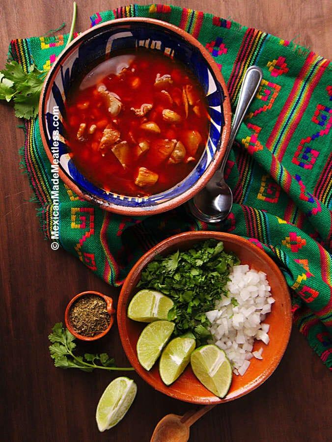 Recipe for quick Mexican menudo in the Instant Pot