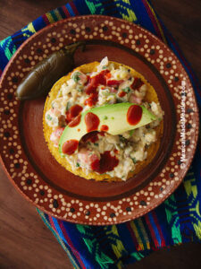 """Chickpea """"Tuna"""" Salad made Mexican Style"""