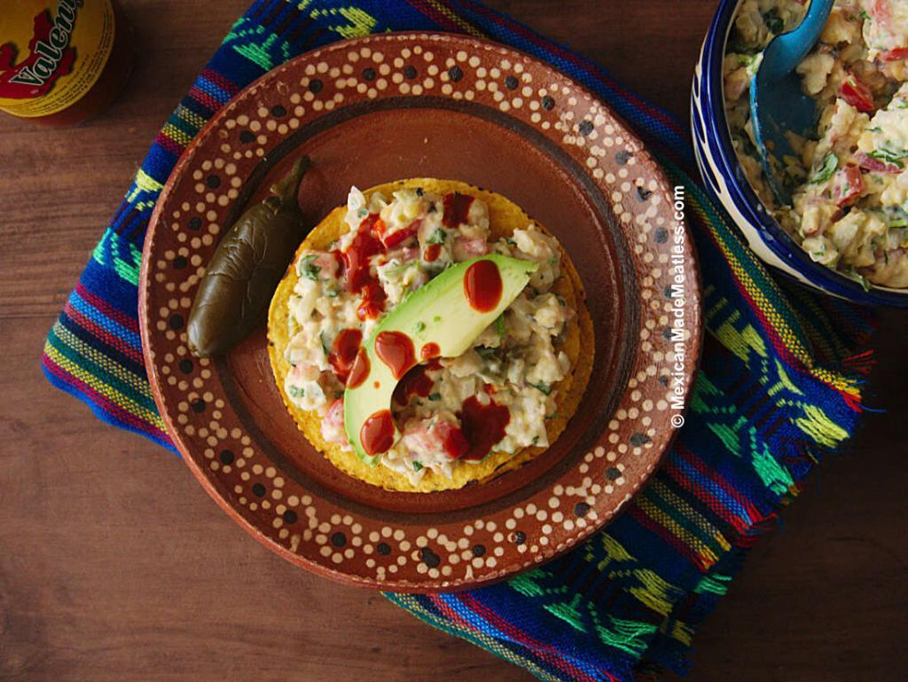 Chickpea Tuna Salad Tostadas