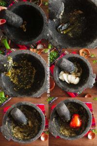 How to make molcajete salsa