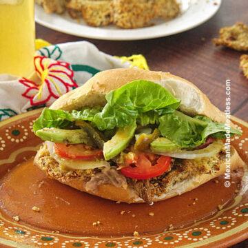 Fried Chicken Sandwich or Vegan Torta de Milanesa