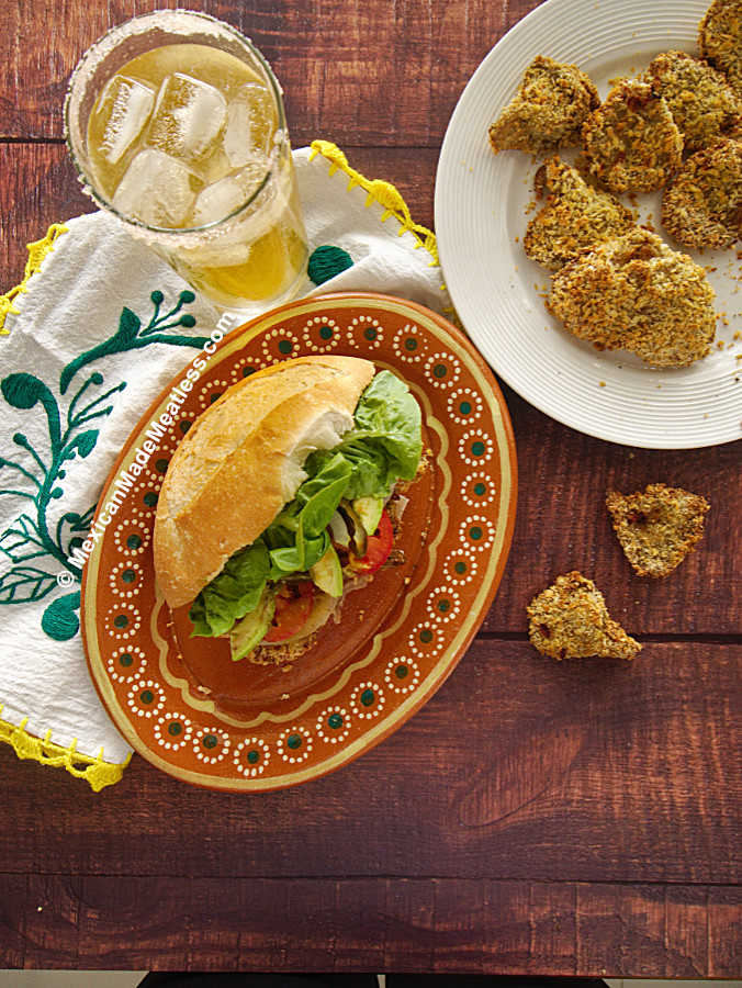 Vegan Fried Chicken Sandwich Made the Mexican Way