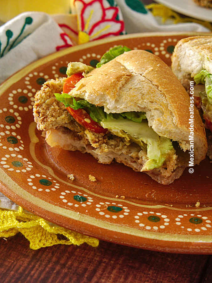 Fried Chicken Sandwich Mexican Style