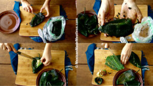 How to Clean Roasted Poblano Peppers