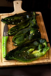 Roasted Poblano Peppers to Make Chiles Rellenos