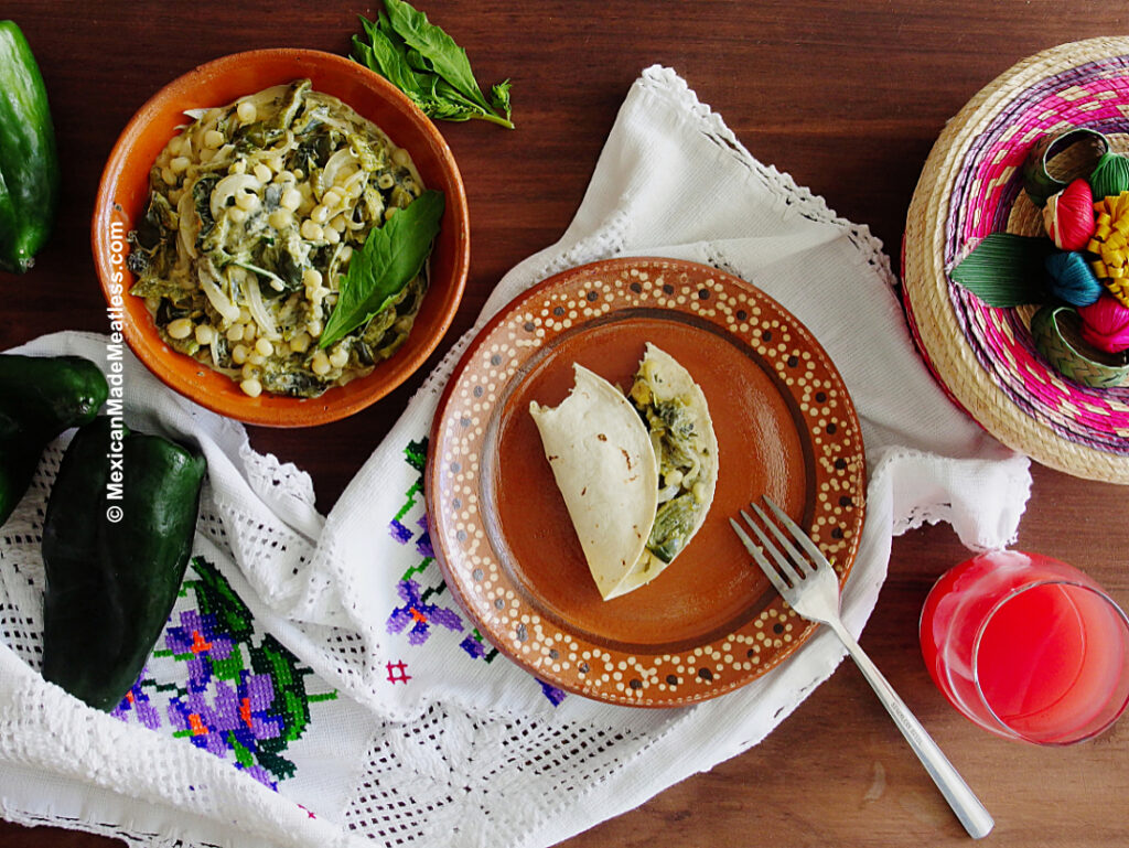 How to Eat Mexican Roasted Poblano Peppers