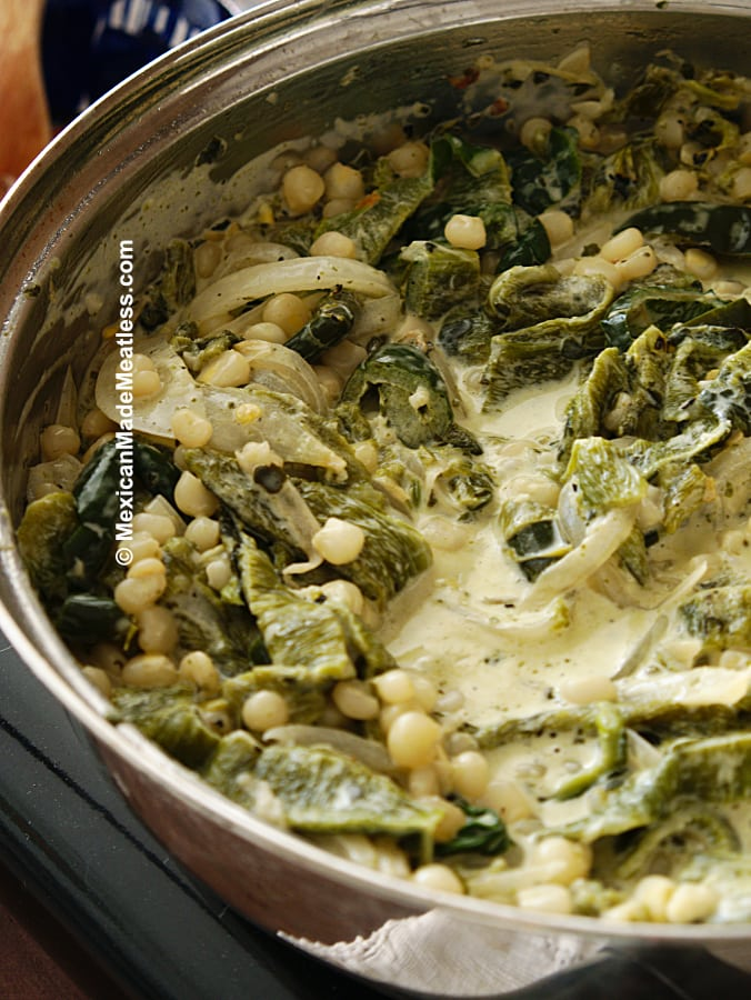How to Make Rajas con Crema