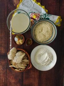 Ingredients needed for vegan fried chicken