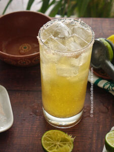 Mexican beer cocktail