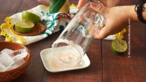 Rim the glass with salt