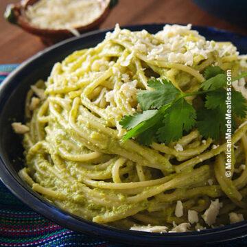 Espagueti Verde or Mexican Green Spaghetti