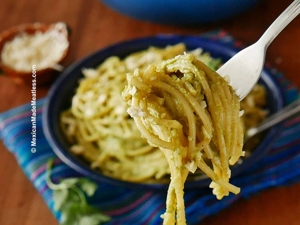 Mexican creamy poblano pasta