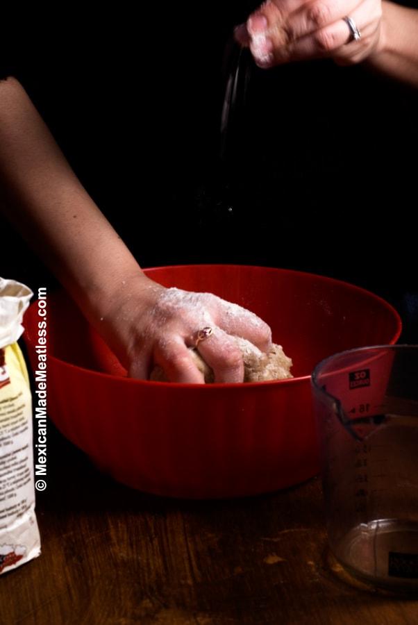 Whole wheat empanada dough